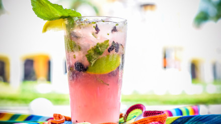 Blueberry Lemondade Mojito from Cabo Flats