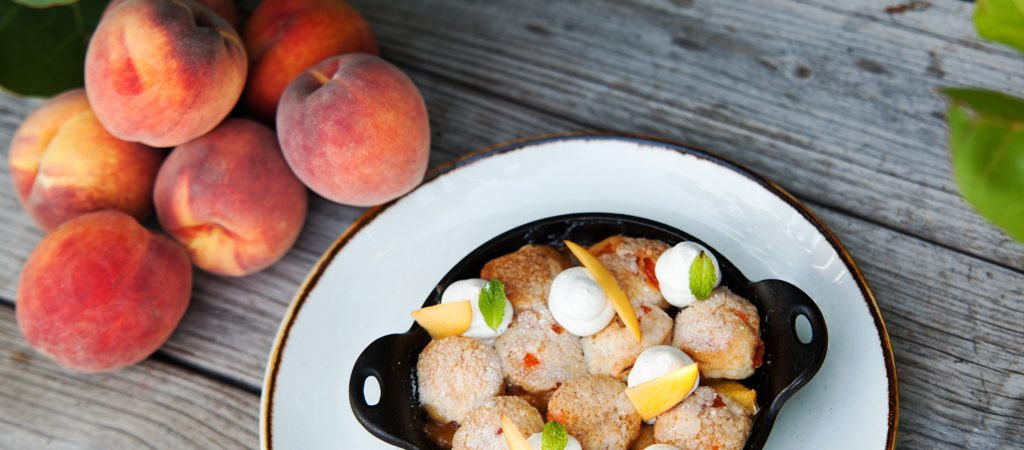 Peach Cobbler - by Executive Pastry Chef Jill Montinola - courtesy of seaspice miami
