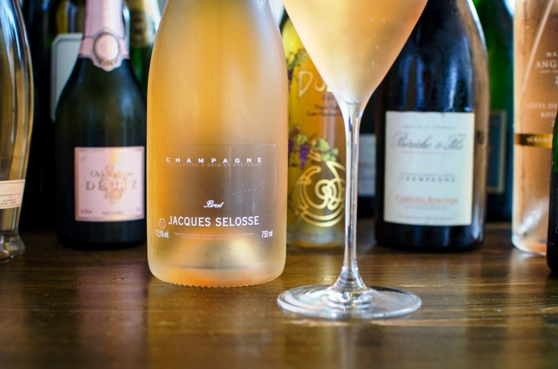 Fooq's Grower Champagne Menu – Miami -Jacques Selosse Rose – photo courtesy @fooqsmiami