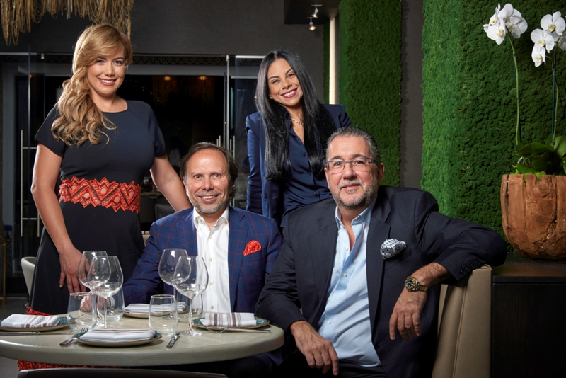 ZUCCA - Coral Gables - Keiny & Erasmo Da Silva of Da Silva Hospitality Group and partners Beatriz & Cesar Gambino - courtesy of ZUCCA
