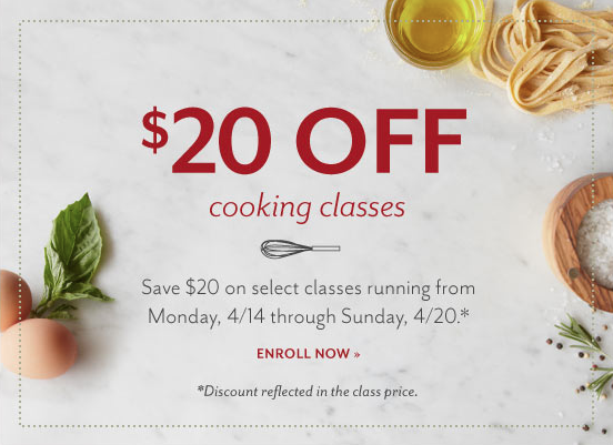 Save 20 Off Select Cooking Classes At Sur La Table In Boca