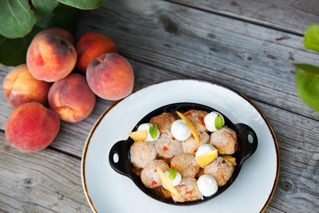 Peach Cobbler - by Executive Pastry Chef Jill Montinola - courtesy of seaspice miami
