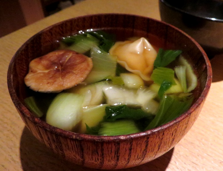 Sushi Garage - Happy Hour – Miami - dumpling soup @fooddrunkie