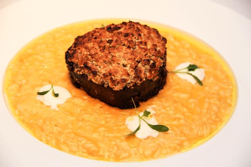 Level One Miami - Filet Mignon & Pumpkin Gorgonzola Risotto - courtesy of Level One Miami