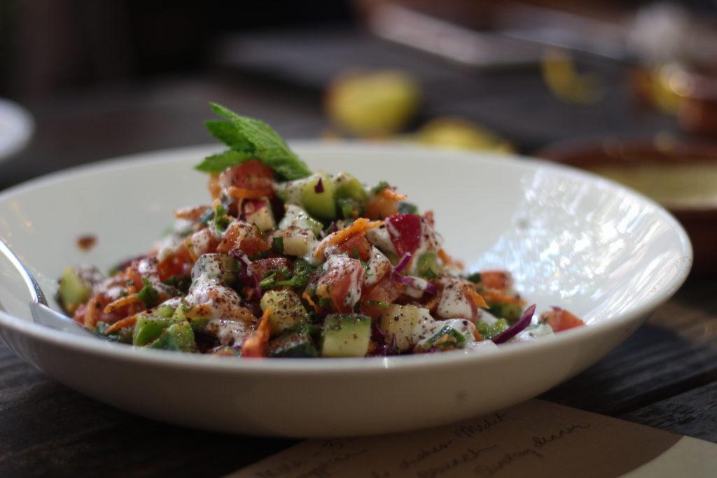 Shirazi Persian Country Salad with pomegranates _ saffron supper club