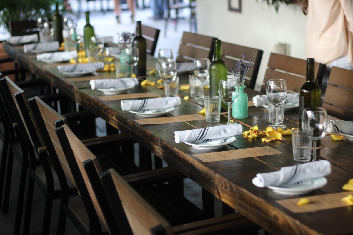 Saffron Supper Club table setting