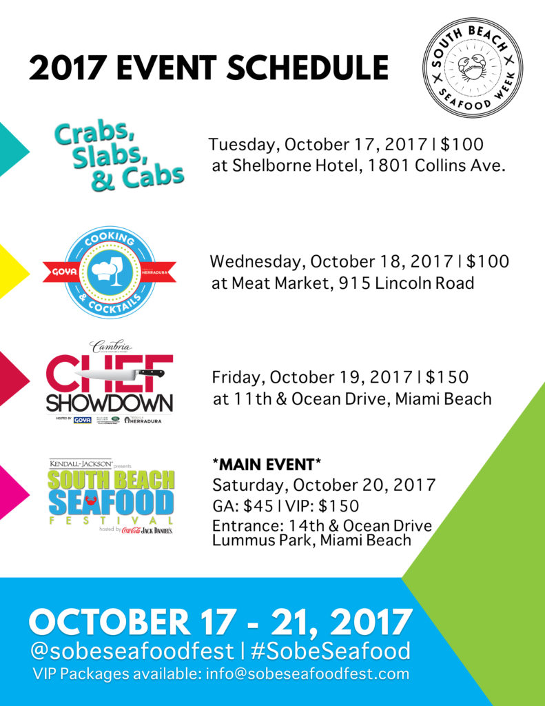 South Beach Seafood Festival schedule