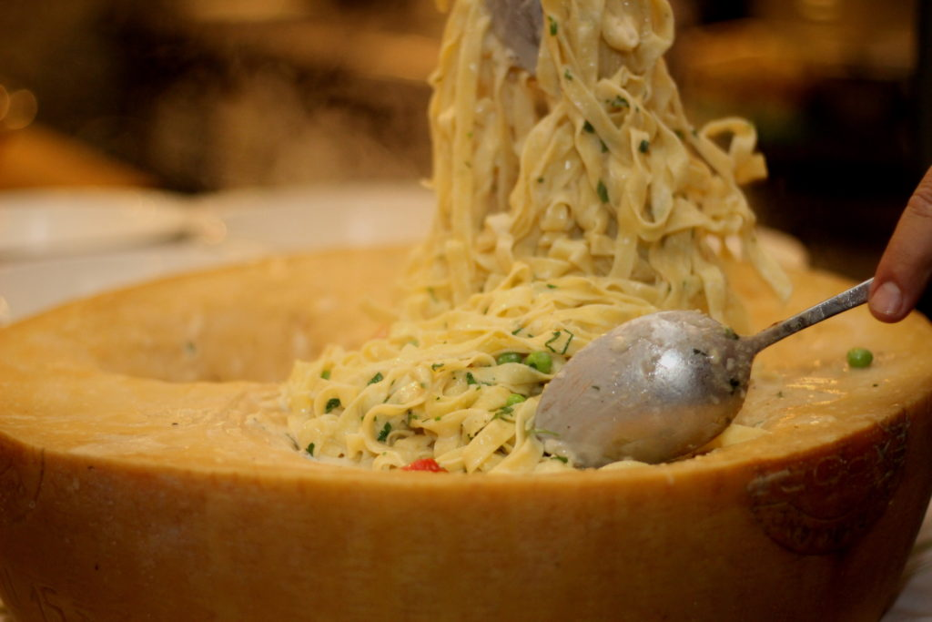 Flaming Cheese Pasta